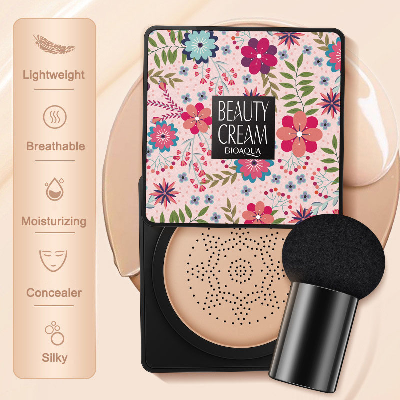 2019 Hot sale Small Mushroom Head Air Cushion BB Cream Female Concealer Foundation Concealing Breathable Makeup Bare Cosmetics image