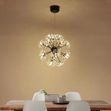 G4 Design Lamp Modern Crystal Led Chandelier Black Lustre Living Room Kitchen Foyer Light Fixtures Decor Home Lighting Metal