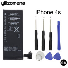 YILIZOMANA Original Mobile Phone Battery For Apple iPhone 4S 4s Capacity 1430mAh Genuine Replacement Li-ion battery+ Free Tools