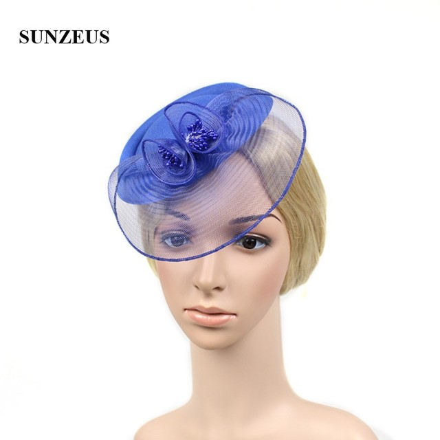 3929383d3af US $13.9 |Bridesmaid Wedding Hats for Girls with Face Veil Tulle Elegant  Hats for Women Formal Hair Accessories hut fur hochzeit SH26-in Bridal ...