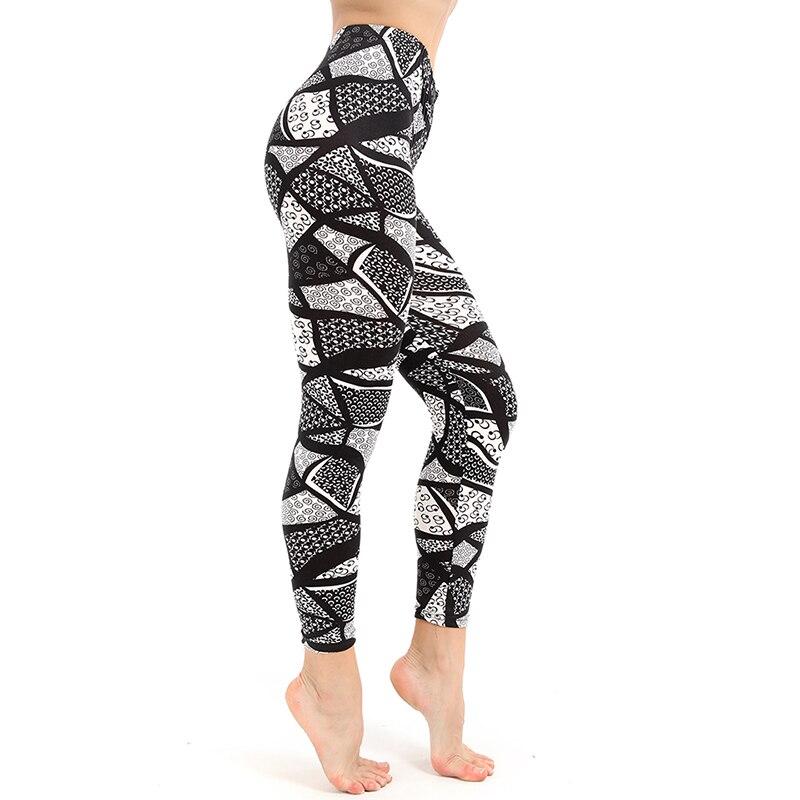 Leggings   Womens Black And White Square   Leggings   Print Fitness   Legging   Sexy Silm Leging Stretch Pants Mujer Slim Pants