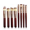 8 unidades/pacote Pincéis de Maquiagem Cosmética Profissional Compo o Jogo de Escova Pincéis de Maquiagem Kit de Cosméticos Em Pó Fundação Sombra de Olho Testa