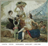 decorative wall tapestries French Aubusson Gobelins Weave Tapestry wide (122CM) 11018754 4.6x5.2gc88tapyg4