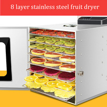 8 Layer Fruit Food Drying Machine Fruit and Vegetable Dehydrator Electric Commercial Meat Timing Temperature Adjustable Dryer