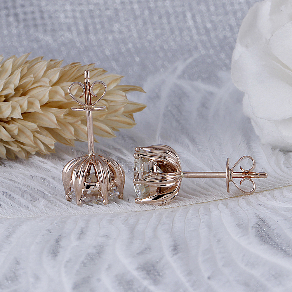 moissanite earrigns rose gold (5)