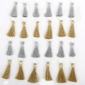 Wire Small Mini Tassel 25mm Gold Silver MixCharm Necklace Earring Findings Tassels DIY For Jewelry Finding Accessories 10pcs/lot