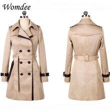 الخريف الشتاء النساء ضئيلة معطف واقٍ من المطر الإناث 2018 جديد الملابس الكورية جيوب سترة واقية معطف أبلى مع حزام