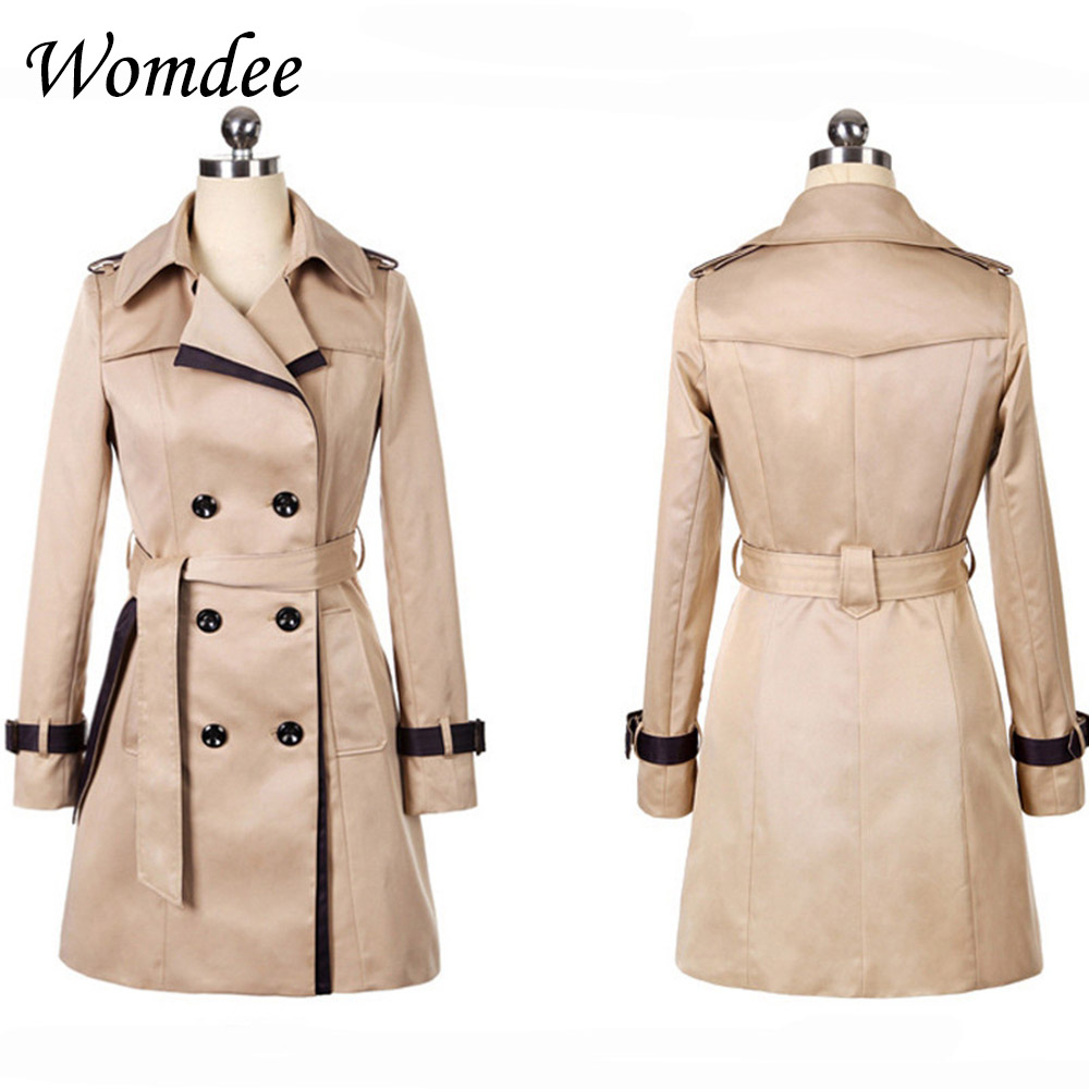 Autumn Winter Women Slim Casual   Trench   Coats Female 2018 New Korean Clothes Pockets Windbreaker Coat Outwear with Belt