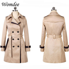 Autumn Winter Women Slim Casual Trench Coats Female 2018 New Korean Clothes Pock