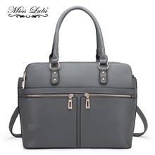 Miss Lulu Women Laptop Handbag Leather Shoulder Bag Ladies Designer PU  Fashion Large Tote Cross Body 7ce97f907c1d4