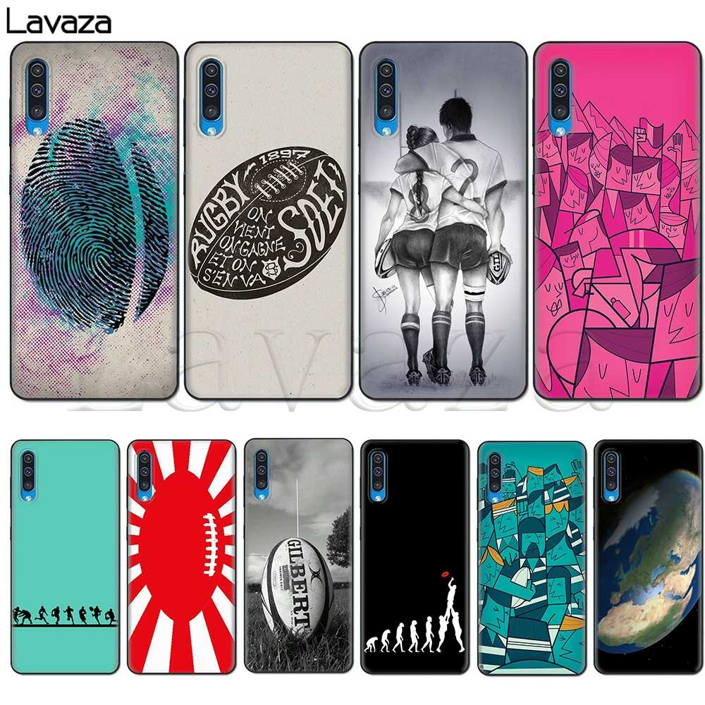 Lavaza Rugby Ball Sport Soft Silicone Case voor Samsung Galaxy A10S A20S A30S A40S A50S Note 10 Plus A70 M10 m20 M30