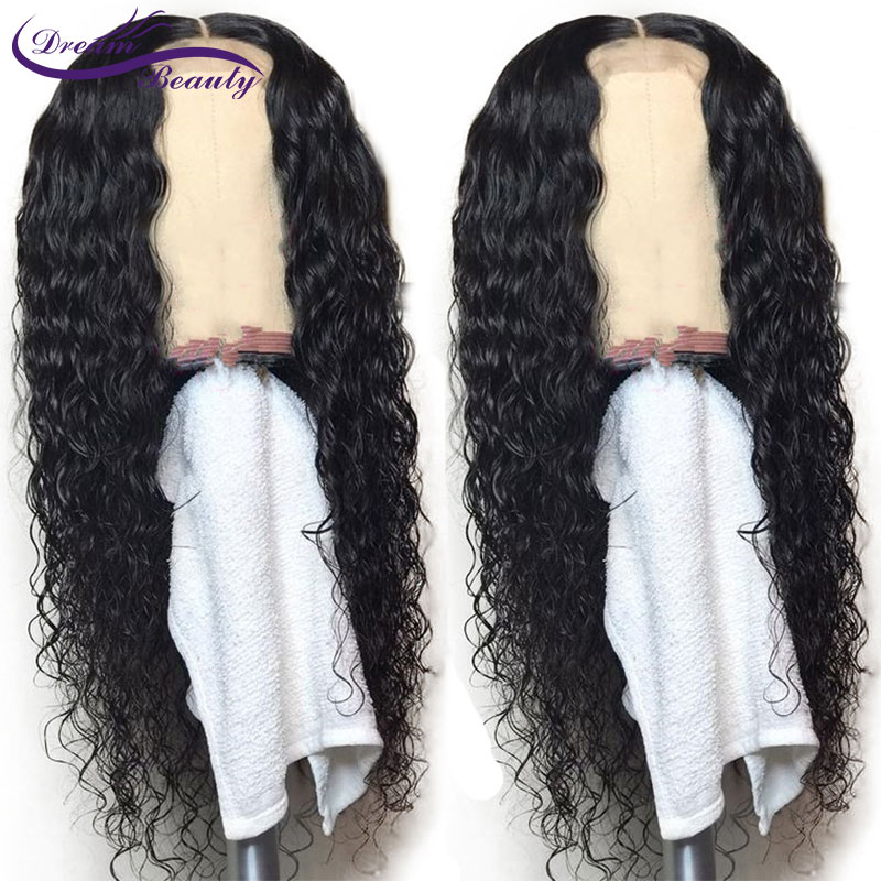 13X6 Lace Front Wigs With Baby Hair 8-24 Inch Remy Hair Deep Part Curly Pre Plucked Brazilian Remy Human Hair Wigs Dream Beauty ...