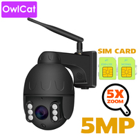 OwlCat 5X ZOOM 4G Dome IP Camera WiFi PTZ Bullet Outdoor Street MiFi SIM Card Camera HD 2MP 5MP with Flash Card Slot Audio MIC