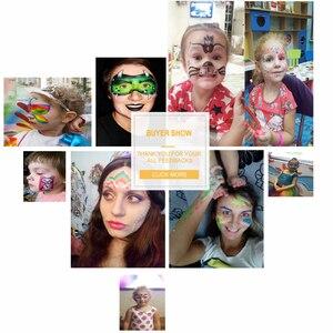 Image 5 - 15 ألوان رسم على الوجه لون maquillage 30 جرام هالوين ماكياج akفاجيريم الصباغ الجسم الفن نموذج ماركر واحد maquiagem الجسم اللوحة