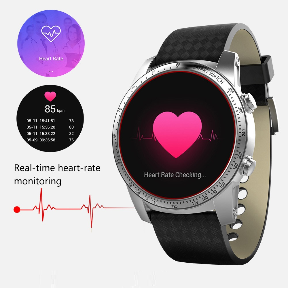 Original Kingwear KW99 3G Smartwatch Phone Android 5.1 1.39'' MTK6580 8GB ROM Heart Rate Monitor GPS Smart Watch For Men