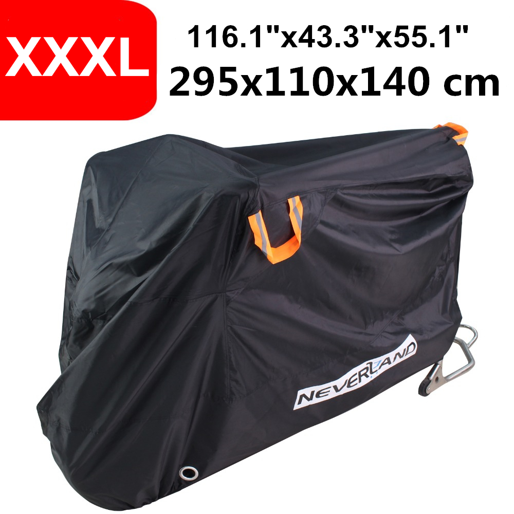 210D Oxford Waterproof Motorcycle Cover Coat Sun UV Snow Stome Rain Dust Indoor Outdoor Protector Scooter Bike XXXL Covers D30