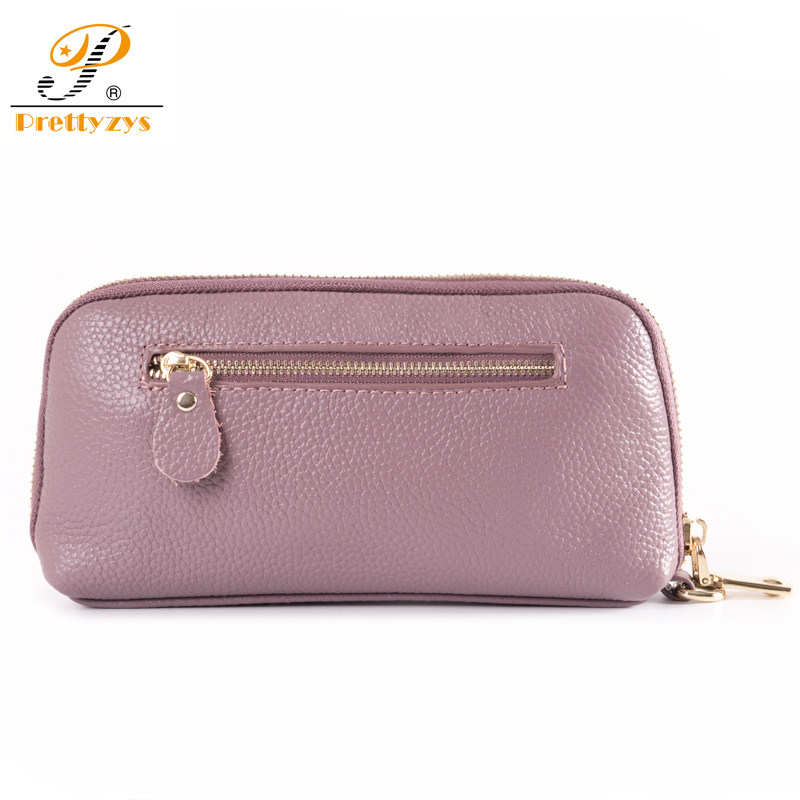 86ec4094bd0c Prettyzys Women Wallet Genuine Leather Luxury Brand Long Design Female  Large Purse Perse Card Holder Ladies Coin Large Floral-in Wallets from  Luggage   Bags ...