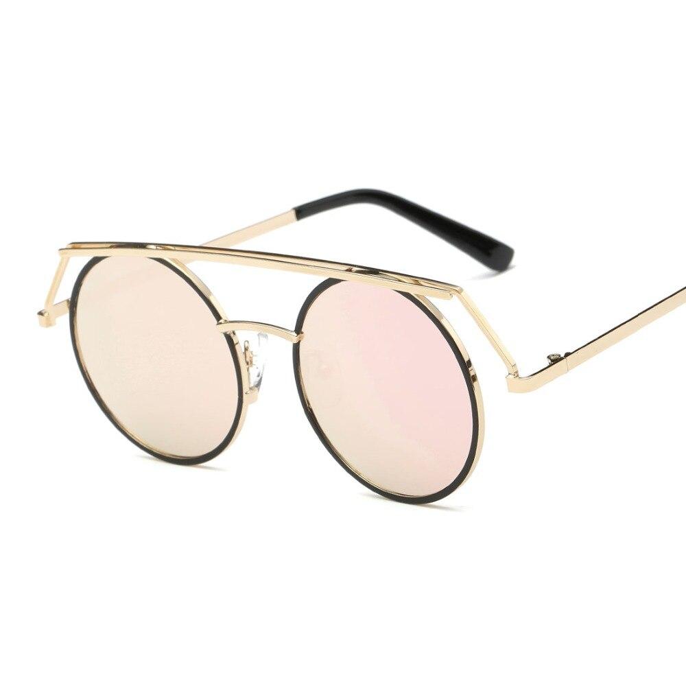 dc4084a3457f6 Óculos De Sol Mulheres Steampunk Estilo ROZA Cobre Lente Moldura Redonda  Óculos Retro Marca Designer Óculos de Sol UV400 QC0435 em Óculos de sol de  ...