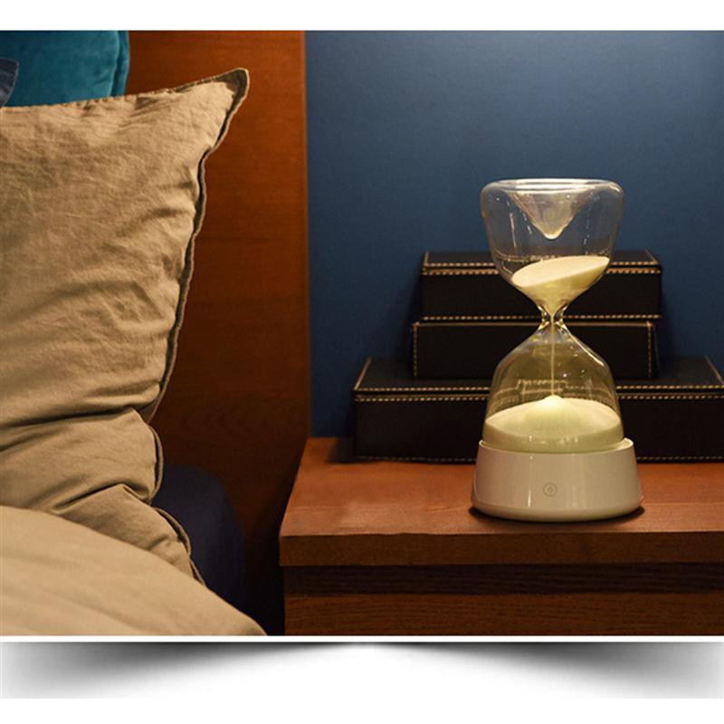 Romantic Intelligent Touchable Multicolor Sandglass LED Night Light For Sleep Bedside Desk Lamp Home Office Decoration Gift
