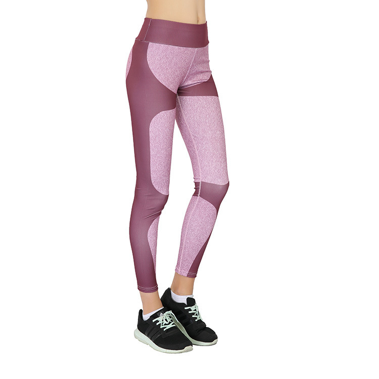 VVUES Legging Yoga Pants Stretch Soft Slim Sport Trousers For Women Patchwork Heart Shaped Jogging Gym