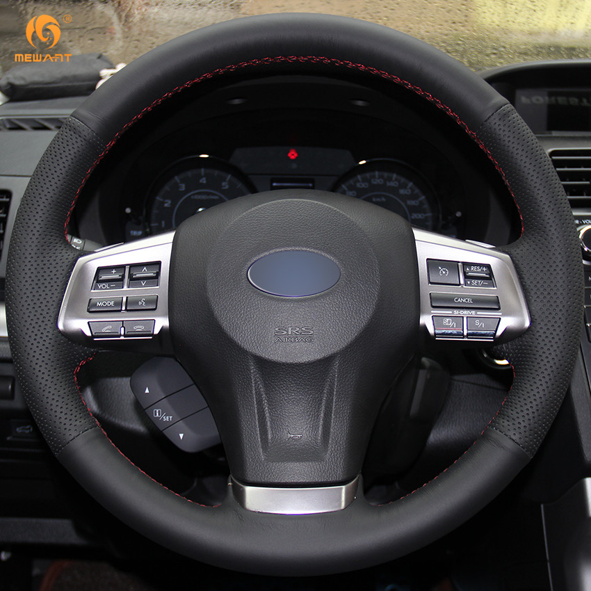 subaru forester 2015 black. black artificial leather car steering wheel cover for subaru forester 2013 2015 legacy 2014 outback xv 2015in covers from