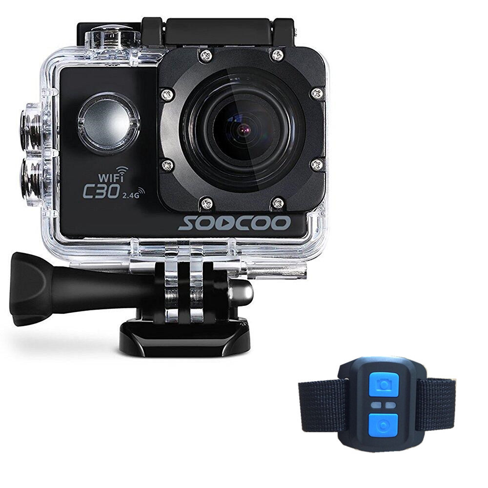 SOOCOO C30R Sports Action Camera Wifi 4K Gyro Adjustable Viewing angles(70-170 Degrees) NTK96660 with Remote Control soocoo c30 sports action camera wifi 4k gyro 2 0 lcd ntk96660 30m waterproof adjustable viewing angles