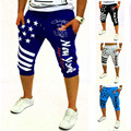 Free shipping Men's  pants foreign trade selling American flag printed men's fashion casual pants