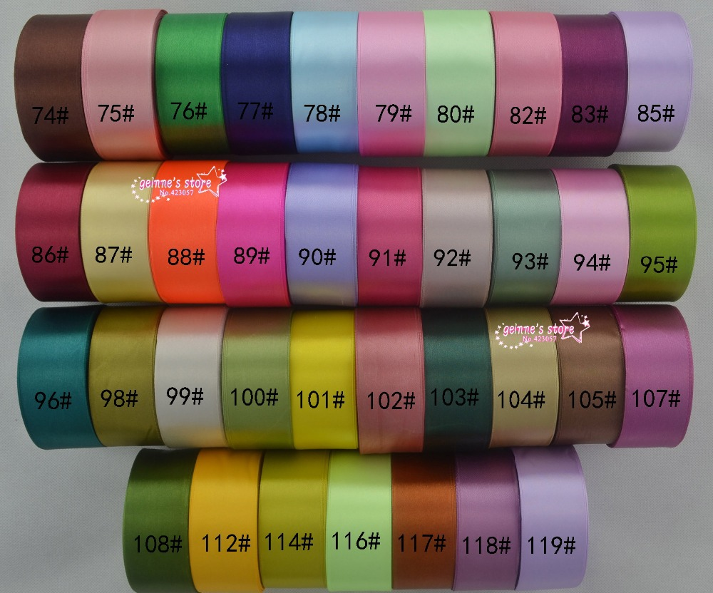 Nieuwe arrive 1 1/2 ''(38mm) single satijn lint 25 yards/roll totaal 20 rollen, 500 yard/lot mix 20color. 120 kleur voor optie-in Linten van Huis & Tuin op  Groep 2