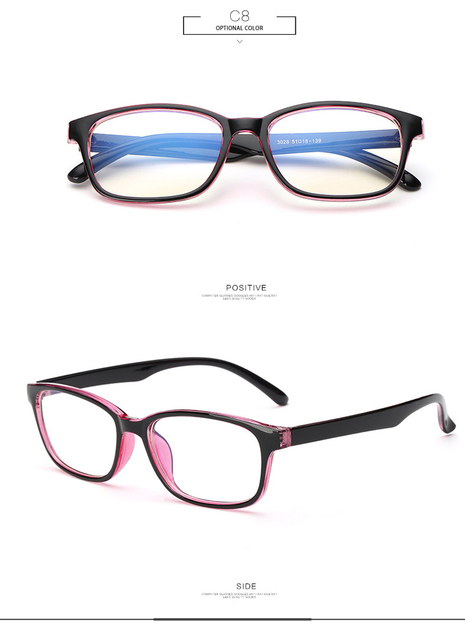 Fashion Anti-fatigue Clear Lens Eye Protection Eyeglasses Frame Women Brand Blue Light Glasses Computer Gaming Glasses Goggles