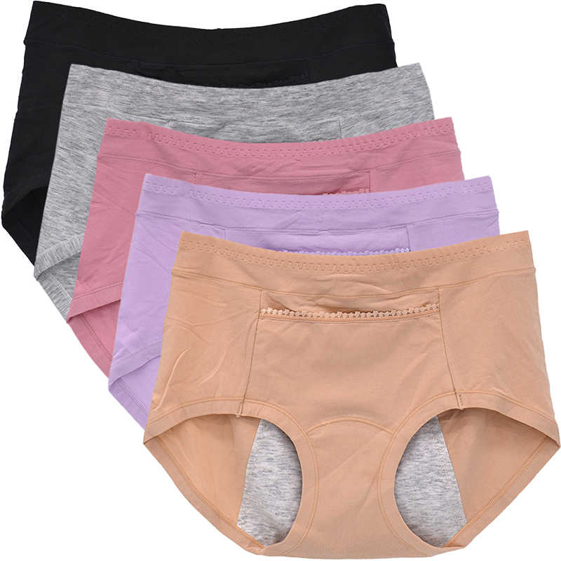 9c05e5a801db Womens Panty With Pocket Physiological Pants Leakproof Period Panties Cotton  Black Underpants Purple Underwear Khaki Briefs