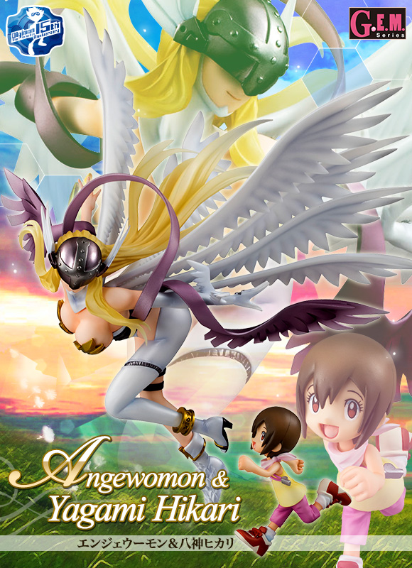 Japan Anime Digimon Adventure Original MegaHouse G.E.M. Complete Figure - Angewomon & Yagami Hikari обогреватель nobo nfc4n 15