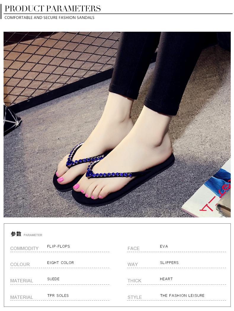 46824fea913 XMISTUO Women Pu Flip Flops Female Summer Beach Wedges Slippers  Water-resistant 7CM High-heeled Slippers 4 Color 7076WUSD 19.99 pair