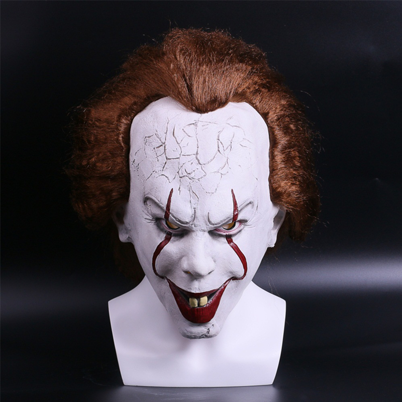 Movie Stephen King's It Mask Pennywise Cosplay Full Head Adult Hard Latex Horror Clown Joker Halloween Helmet Props Toy Party new fancy party cosplay tactical mask m06 airsoft paintball mask adult full face production skull mask roundmesh halloween cy286