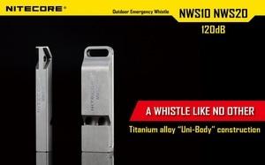 Image 3 - Nitecore NWS10ไทเทเนียมฉุกเฉินนกหวีดสร้อยคอจี้กลางแจ้ง120dBพร้อมพวงกุญแจ + จัดส่งฟรี