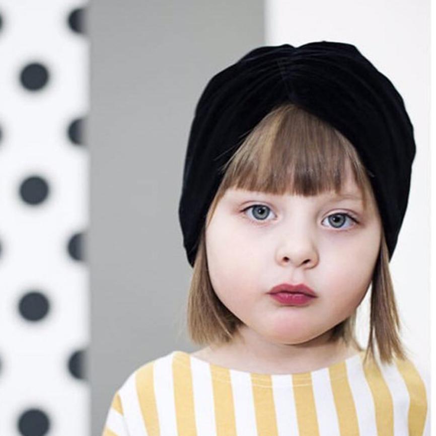 Casual 1Pc Newborn Toddler Kids Baby Boy Girl Bowknot Turban Beanie Hat   Headwear   Hat Children's Headdress Beautiful   Headwear