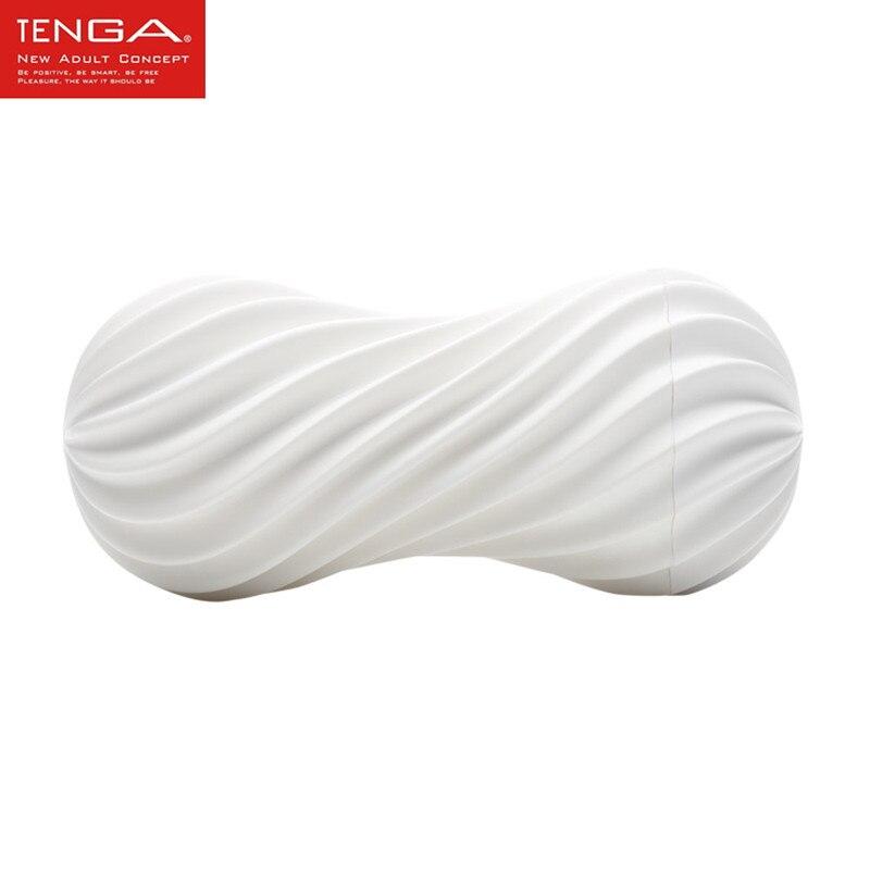 TENGA Masturbador Masculino Flexível Em Espiral Copo Forte Sucção Pênis de Silicone Macio Da Vagina Real Buceta Brinquedos Produto Do Sexo para o Homem