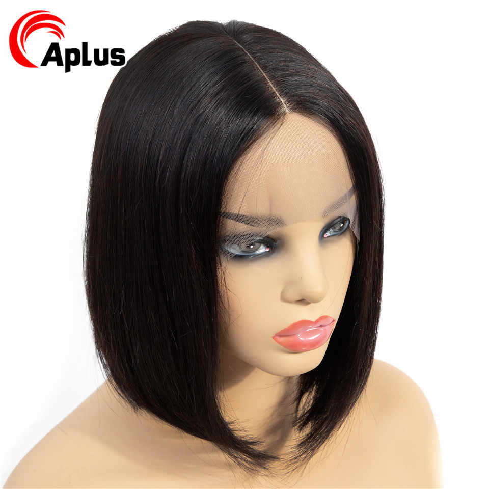 Aplus Bob Lace Front Wigs Remy Hair Straight Black Wigs For Halloween Brazilian Wig Short Bob Human Hair Wigs For Black Women