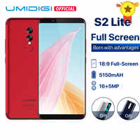 UMIDIGI S2 Lite Full Screen 18:9 Smartphone Android 7.0 Face ID 5100mAh cellphone 4GB 32GB 16MP+5MP Dual Cameras 4G Mobile Phone