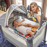 Portable collapsible infant crib multifunctional baby outdoor bed travel bed newborn games bed