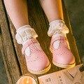 3 par/lote niños calcetines calcetines de algodón puro para la muchacha de encaje de flores blanco negro gris