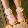 3pairs/lot Children's Socks Pure Cotton Baby Socks For Girl Flower Lace White Black Gray