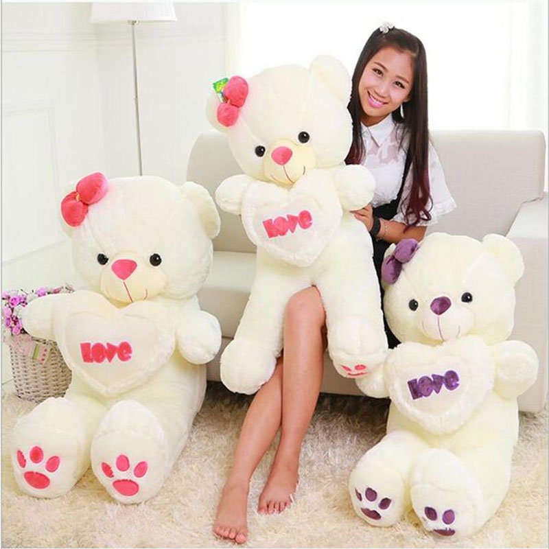 100cm 120cm Giant Big Cute Plush Stuffed Teddy Bear Soft 100% LOVE Toy100cm 120cm Giant Big Cute Plush Stuffed Teddy Bear Soft 100% LOVE Toy