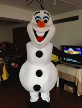 Hot sale 2016 fast shipping Olaf Mascot Costume for Adult elsa Costumes olaf mascot Free Shipping