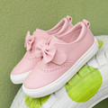 Kids shoes for girl Artificial leather Children sports shoes girs Bow white 2017 spring new girls casual shoes princess shoes