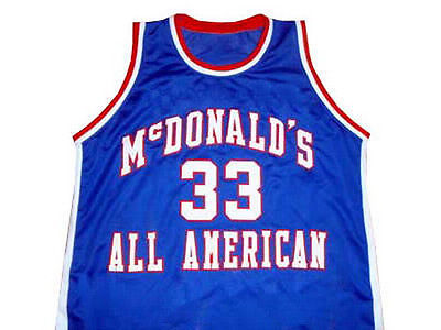 #33 CHRIS WEBBER MCDONALD ALL AMERICAN Basketball Jersey White red Embroidery Custom any Number and name Jerseys