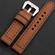 20MM 22MM 24MM 26MM Mens Womens Genuine Cowhide Leather Watch Strap Band +Tools