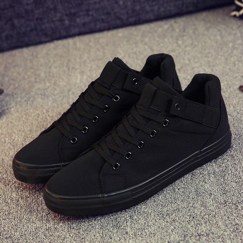 Toile Casual Hommes Appartements Haute 2018 Qualité Respirant Nouvelle Chaussures Arrivée blanc Noir Mode RHv1qx4U