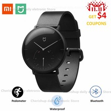 New ! Xiaomi Mijia Quartz Smart Watch BT IP67 Waterproof Mechanical SmartWatch Pedometer Intelligent Reminder For Android IOS