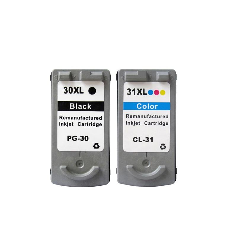 2 pièces Pour Canon PG 30 CL 31 PG30 CL31 PG-30 Cartouche D'encre pour Canon PIXMA iP1800 iP2600 MP140 MP210 MP470 MX300 imprimante