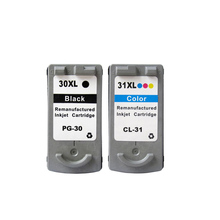 2PCS Remanufactured For Canon PG 30 CL 31 pg30 Ink Cartridge for Canon PIXMA iP1800 iP2600 MP140 MP210 MP470 MX300 printer 1pcs tri color ink cartridge for canon cl 31 cl31 cl 31 for canon pixma mp140 mp210 mp470 ip1800 ip2600 mx300 mx310 printer